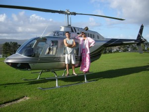 Terence and Paul on Helicopter